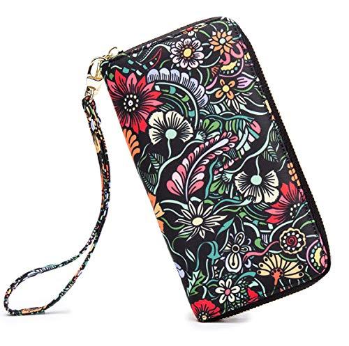 (LOVESHE Women wallet SmallFlower Bohemian wristlet Clutch wallets(SmallFlower))