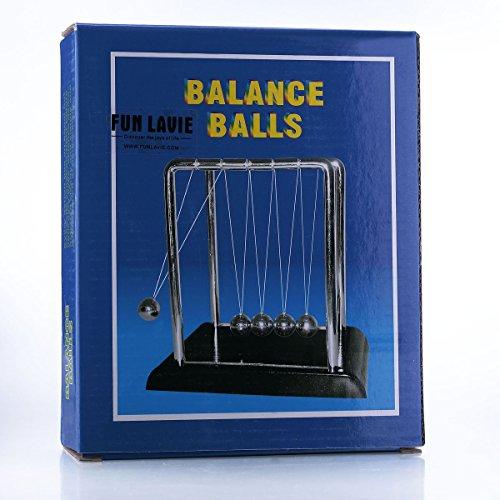 FUNLAVIE Large Size Newton's Cradle Balance Balls