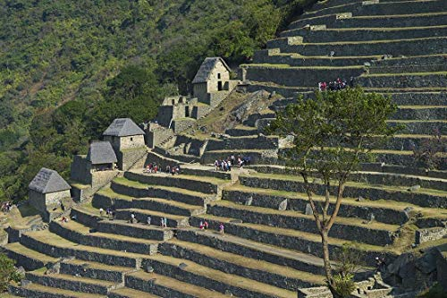 (Peru, Photography, Machupicchu, stone houses, Inca Civilization, Art print, Wall Art, Decor, Gift, Photo, Andes, mountains, archiological site, masonary, terraces, South America, Latin America)