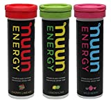 3 PACK Nuun Energy: B-vitamin Caffeine Electrolyte Drink Tablets Mixed Flavors