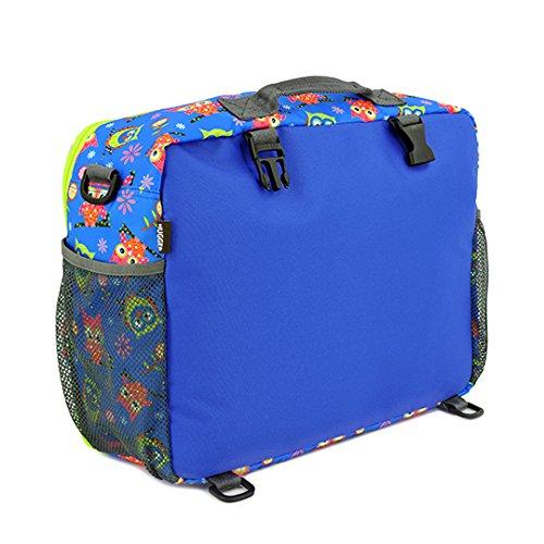 Hugger Comfy Momma–Bolsa de Pañales Bolso Para Pañales Bolso cambiador Bolsa de hombro mochila azul hotty owls hotty owls
