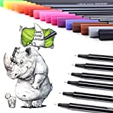 Best Colored Markers - Fineliner Pens Set 24 Colors 0.4mm Colored Markers Review
