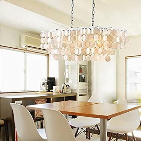 Lightintheboxmoderncontemporary shell rectangular chandelier 30 lightintheboxmoderncontemporary shell rectangular chandelier 30quot pendent lights ceiling lighting fixture aloadofball Images