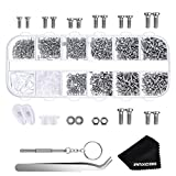 Paxcoo Glasses Repair Kit with 1100 Pieces Eyeglasses Screws and Nose Pads for Eye Glasses and Sunglass Repair