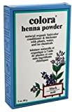 Colora Henna Powder Hair Color Black, 2 oz (Pack of 12)