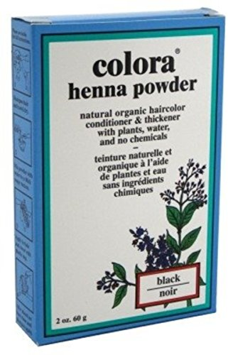 Colora Henna Powder Hair Color Black, 2 oz (Pack of 12) by Colora Henna Powder
