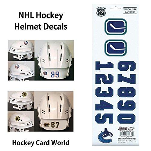 ((HCW) Vancouver Canucks SportsStar NHL Hockey Helmet Decals Sticker)