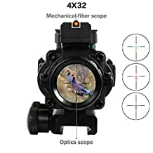 SNIPEN 4x32 Acog Riflescope 20mm Dovetail Reflex Optics Scope Sight For Hunting Gun Rifle