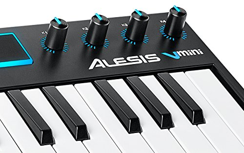 alesis v mini portable 25 key usb midi controller with xpand software keyboards zone. Black Bedroom Furniture Sets. Home Design Ideas