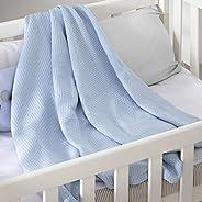 Cobertor Premium Ninho, Jolitex, 100% Algodão, Azul, Infantil