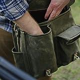 Saddleback Leather Canvas Front Pocket Gear Bag
