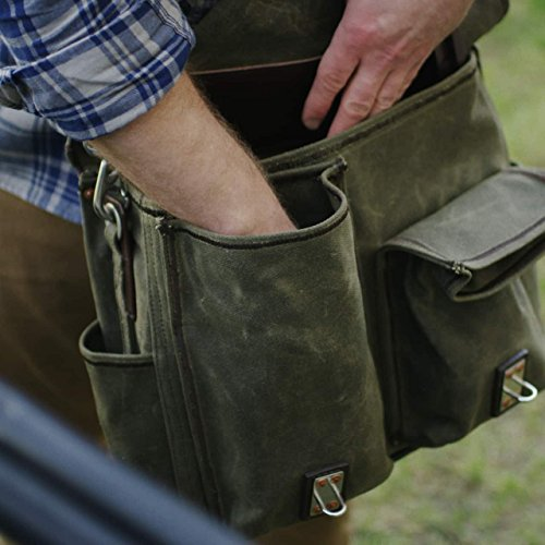 Saddleback Leather Canvas Front Pocket Gear Bag - Messenger Bag with 100 Year Warranty by Saddleback Leather Co. (Image #7)