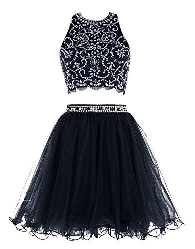 Short Fanciest Dress 2016 blue Two Homecoming Cocktail Dresses Prom Pieces Navy rZTqnZI