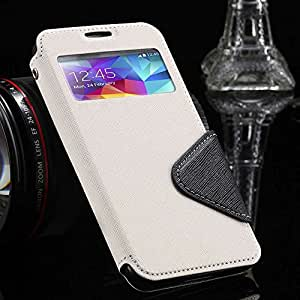 10Pcs/lot Luxury Stand Leather Case for Samsung Galaxy S5 I9600 Lovely Phone Cover With Card Slot --- Color:Black