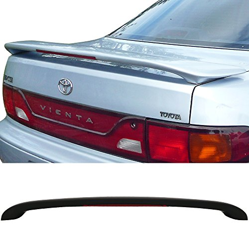 Trunk Spoiler Fits 1997-2001 Toyota Camry | OE Style ABS Unpainted Black With LED Light Trunk Boot Lip Spoiler Wing Deck Lid By IKON MOTORSPORTS | 1998 1999 ()
