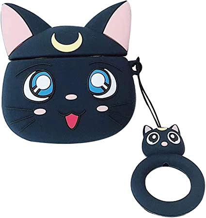 3D Cartoon Silicone Airpod Case Best Gift for Boys Girls and Anime Fans Compatible with AirPods 1 /& 2 QIANLONG Japanese Anime Sailor Moon AirPods Case Style 08