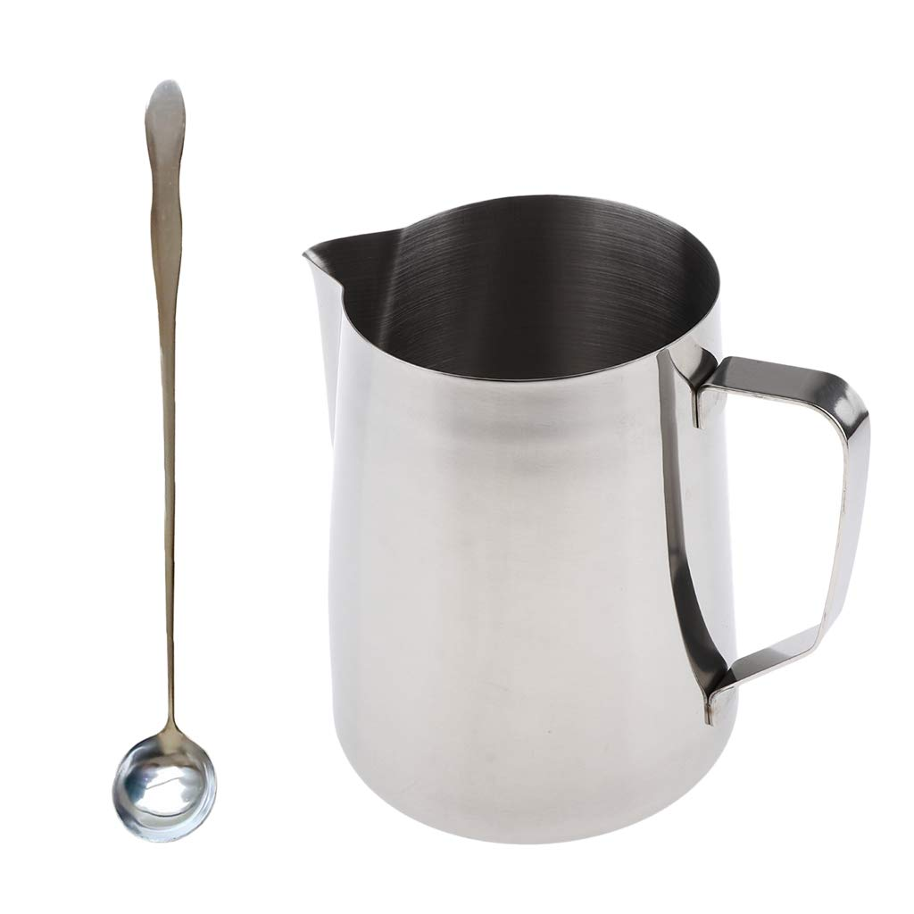 Flameer Long Handled Deep Well Stainless Steel Spoon and 70oz//2000ml Large Double Boiler Pot Candle Making Pitcher Jug for Melting Wax Soap Base Raw Lipsticks