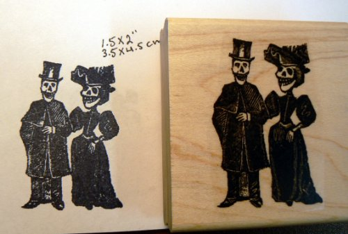 Day of the dead wedding rubber stamp P46 ()