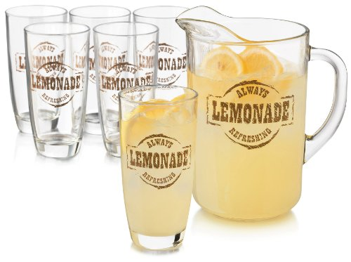 Glass Lemonade - Libbey 7-pc. Country Fair Lemonade Server Set