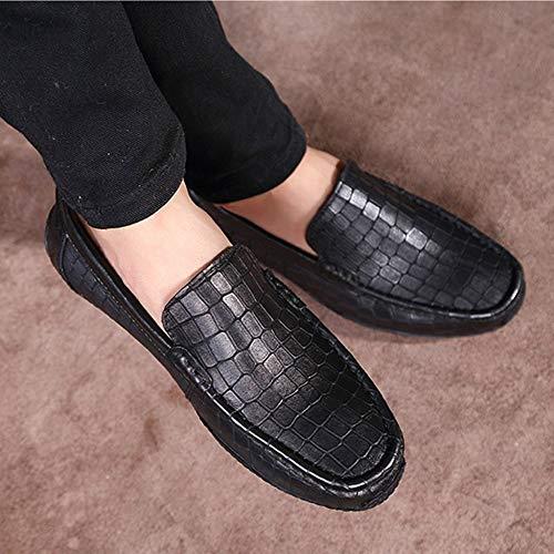 Casuales Hombres Zapatos Al Libre Del Barco Aire Cómodos Caminar Perezosos Los Para Mocasines Blackb Guisantes Conducción De qXdvwwI