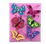 Appliances : ULAKY Beautiful Butterfly Cake Tool Fondant Silicone Mold Cake Decorating Mold