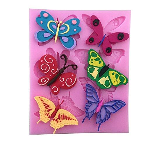 ULAKY Beautiful Butterfly Cake Tool Fondant Silicone Mold Cake Decorating Mold