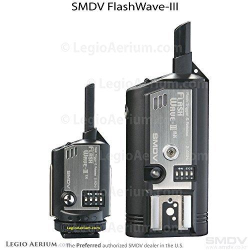 Pocket Transmitter Radio Wizard Receiver - FlashWave3 Wireless Radio Slave Hot Shoe Remote Wireless Flash Trigger System - Transmitter and Receiver Set