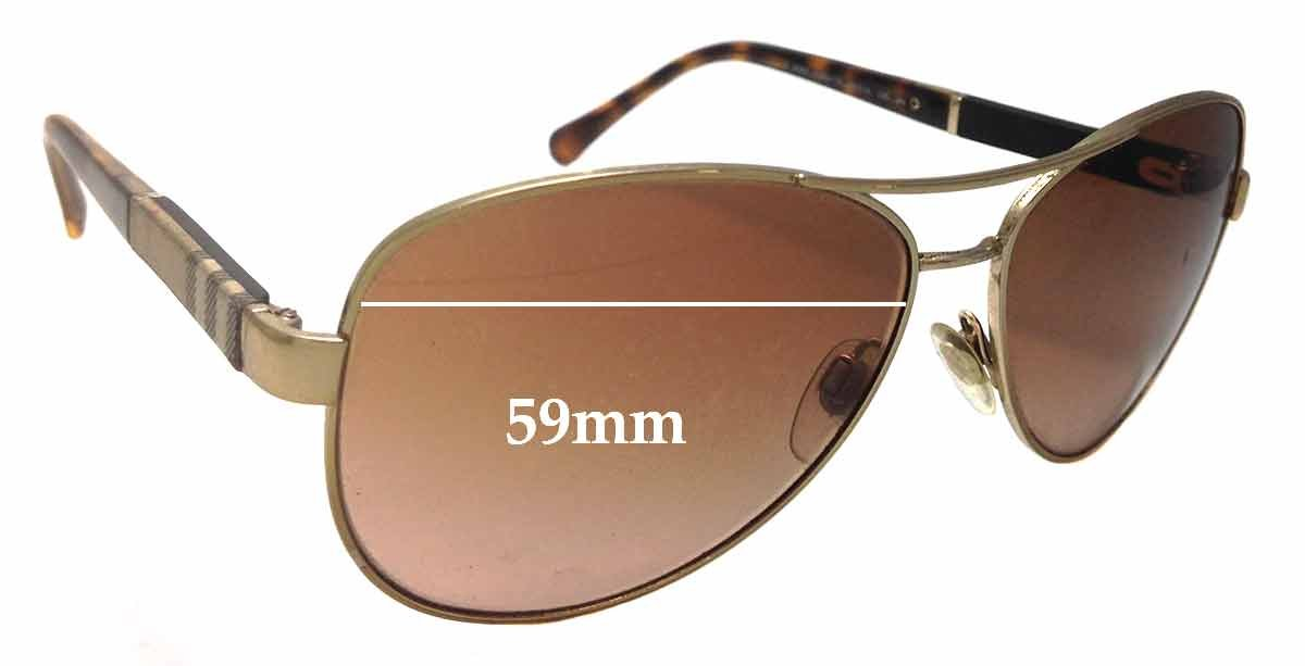 2daefd04f799 Amazon.com: SFx Replacement Sunglass Lenses fits Burberry B 3080 59mm Wide ( Polycarbonate Clear Hardcoat Pair-Regular): Clothing