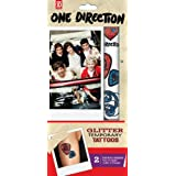 Tempt Tattous 1 Direction Temporary Glitter Tattoo, 2, 0.6 Ounce