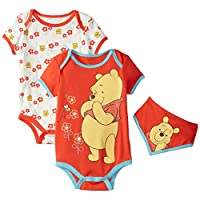 Disney Baby-Girls Winnie The Pooh Bodysuits and Bib, Orange, 3-6 Months (Pack...