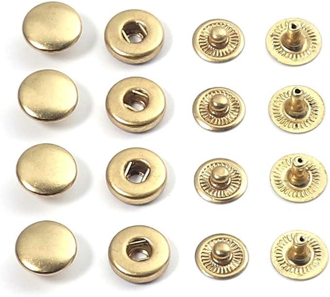 5Sets Metal Press Stud Snap Button Popper Leather Clothes Jacket FastenerRepair