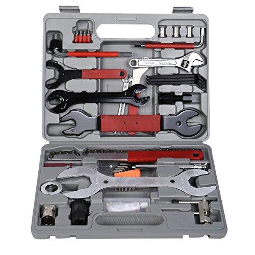 44 tlg. Fahrrad Reparaturset Fahrradwerkzeug Fahrrad Werkzeugkoffer Set Tool Set Schrauben Reifen