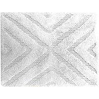 stylehouse Cotton Diamond Bath Rug, 20X30, Cloud White