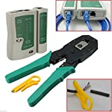 RJ45 RJ11 RJ12 CAT5 LAN Network Cable Tester Crimper Stripper Punch Tool Kit