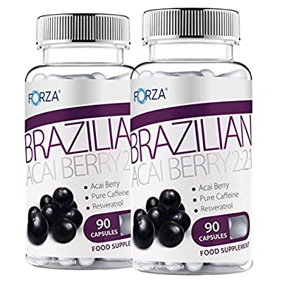 FORZA Acai Berry 2:2:1 - Natural Detox Diet Pills with Pure Acai - 180 Capsules
