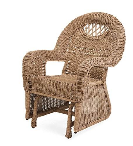 Prospect Hill Wicker Chair Glider, Driftwood (Front Porch Gliders)