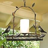 Iron Bird Chandelier Restaurant Balcony Aisle Bar Art Lights ( Design : C )