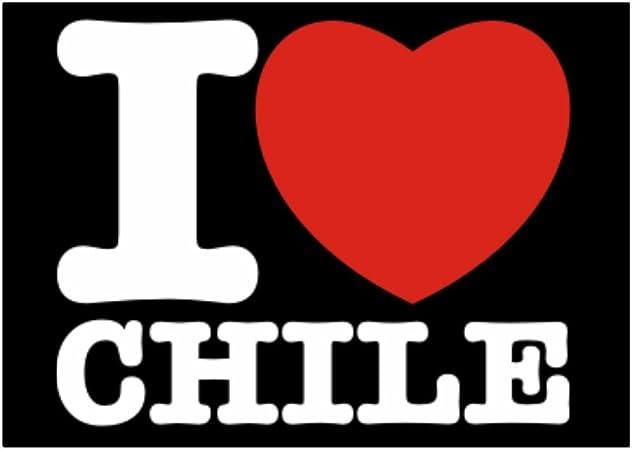 Teeburon I Love Chile Pack de Pegatinas x4: Amazon.es: Hogar