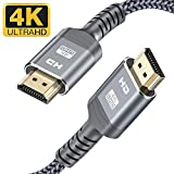 Highwings HDMI 2.0 Cable 10FT/3M,4K@60Hz Ultra High Speed 18Gbps HDMI 2.0 Cable Nylon Braided - Supports Ethernet,3D, 30AWG,Audio Return,4K HDR,HDCP 2.2,HDTV,Xbox Playstation PS3 PS4 PC Blu-ray ect
