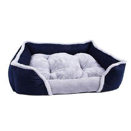 Cama de Lujo para Mascotas para Perros pequeños y medianos Recto Cuddler con cojín Suave Desmontable