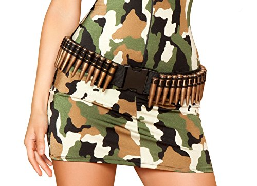 [Bullet Belt Military Armed Forces Army Marines Women's Costume Accessory] (Army Costumes Women)