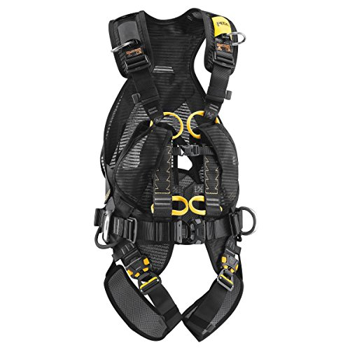 Petzl VOLT WIND fullbody harness with back protection with OXAN TRIACT LOCKING Carabiner CSA Size 1 by Petzl