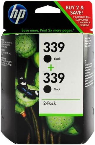 HP C9504EE#301 - Pack de 2 cartuchos de tinta HP 339, negro: Amazon.es: Oficina y papelería
