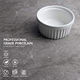Sweese 502.001 Porcelain Souffle Dishes, Ramekins