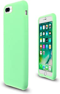 Mint Green Soft Silicone Rubber Case Flexible Skin Jelly Cover for iPhone 7 + 8 Plus