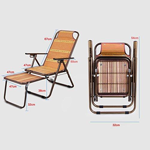 Bambou Rotin Sieste Cool Chaise Bureau De Loisirs Pliant Longue Femme Enceinte Djeuner Pause