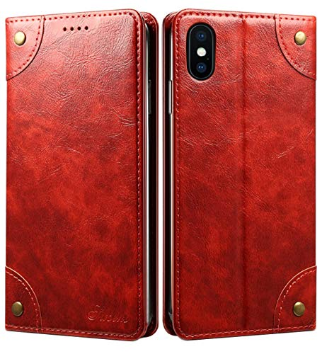(iPhone 6S Case, iPhone 6 Case, SINIANL Leather Wallet Folio Case Book Design Magnetic Closure with Stand and ID Holder Credit Card Slots for iPhone 6 / 6S)