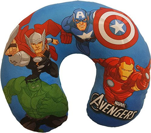 Marvel Avengers Plush Travel Neck pillow (Childrens Travel Neck Pillow)
