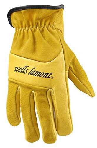 WELLS LAMONT Heavy Duty Leather Work Gloves, Retro Grain,...