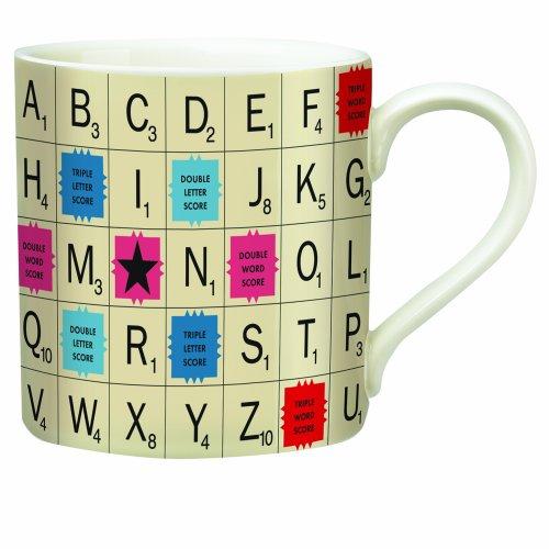 Scrabble Letter Tile Ceramic Mug (14 (Lid Letter)